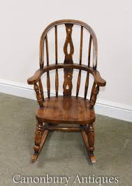 Details About Childs Oak Windsor Rocking Chair Childrens Chairs