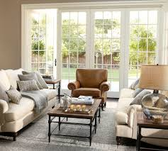 Pottery Barn Living with living room traditional and woven throw