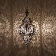 orientalische le pendelleuchte silber harem 50cm e27
