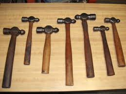 7 old used ball peen hammers fairmount buhl plumb tools ebay