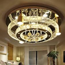 led deckenleuchte säule runde kristall beleuchtung