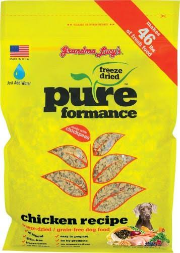 Grandma Lucy's Pureformance Chicken Freeze Dried Dog Food - 10lb
