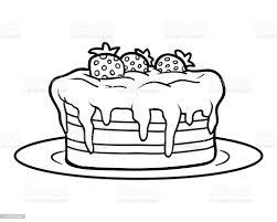 malbuch kuchen stock vektor und mehr bilder ausmalen