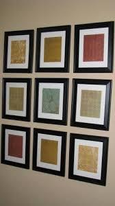 Weekend DIY Cheap Wall Art Scrapbook Paper And
