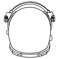 Astronaut helmet icons
