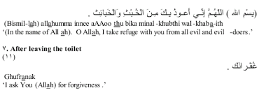 islamic dua for entering bathroom hisn al muslim du a bathroom abdurrahman org