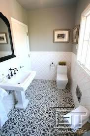 tiled bathroom with contrast using our tile design cement