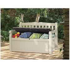 Patio Storage Bench Box Garden Outdoor Resin Seat Waterproof