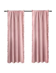 Pink Ruffled Window Curtains by Set Of Two Ruffle Window Curtain Panels Hudson U0027s Bay