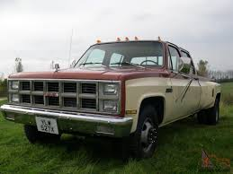 1982 GMC CHEVY C3500 6.5 TURBO DIESEL DUALLY CREW CAB FULL SIZE PICK ...