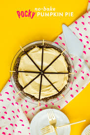 Bake Pumpkin For Pies by No Bake Pocky Pumpkin Cream Pie Sarah Hearts