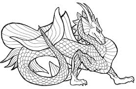Colouring Pictures Of Dragons Coloring Pages Realistic