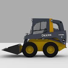 Skid Steer JD 320D 3D Model In Heavy Equipment 3DExport