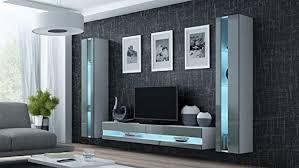 wohnwand vigo new3 anbauwand wohnzimmer möbel hochglanz mit led beleuchtung