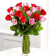 Beautiful Flowers and Meanings Pink Roses with Wax Flowerh Vases In
