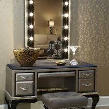 Makeup Vanity Desk With Lighted Mirror by Furniture Mirrored Makeup Vanities Hayworth Vanity Hawthorne