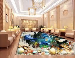 großhandel pvc vinylboden badezimmer sea world turtle wohnzimmer badezimmer 3d bodenfliesen luxus boden tapete wallpaper2018 42 15 auf