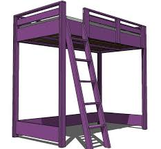 Plans For Building A Full Size Loft Bed by Full Size Loft Bed Frame Plans Frame Decorations