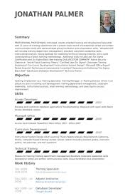 Training Specialist Resume Example