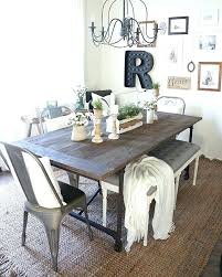 Rustic Farmhouse Table With Bench Kitchen Centerpieces Inspirational Dining Room Awesome Farm Wi