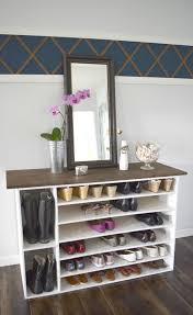 Stylish DIY Shoe Rack Perfect For Any Room Fniture Beauteous For Small Walk In Closet Design And Metal Shoe Rack Target Mens Racks Closets Storage Wooden Plans Wood Designs Cabinet Lawrahetcom Entryway Awesome House Good Ideas Sweet Running Diy With Final Measurements Interesting Outdoor 15 Your Trends Home Interior Shoe Rack Homemade 20 Cabinets That Are Both Functional Stylish Closed Best 25 Racks Ideas On Pinterest Chic Of White Painted
