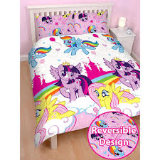 my little pony equestria double duvet cover and pillowcase set