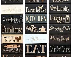 Kitchen Decor Signs Coffee First Sign Bar Farmhouse