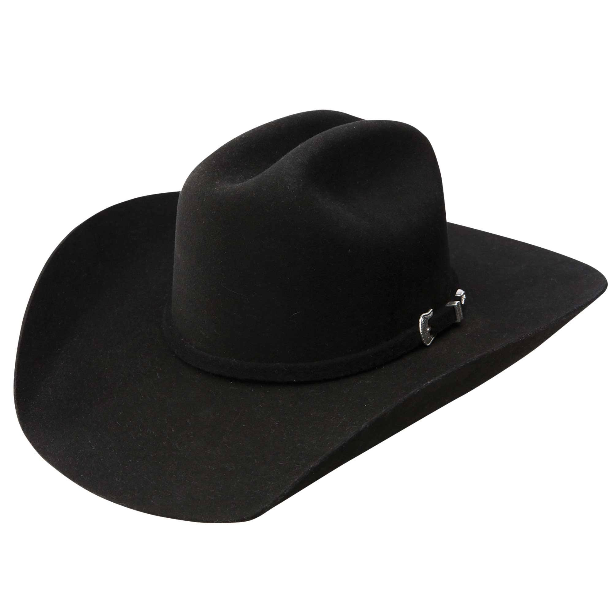Stetson and Dobbs RWTCKR-6842 Mens Tucker Cowboy Hat, Black - 7 1/4