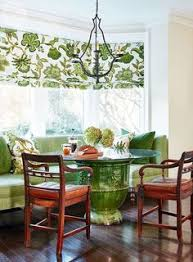 GREEN AND WHITE PERFECT Kitchen Dining Nook Charming And Fresh Paint Those Chairs