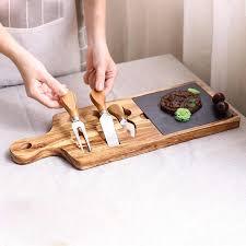 abendessen platten home runde westlichen steak teller dessert platte platz tray küche besteck tablett käse bord einschließlich 3 messer dicken