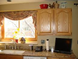 Kitchen Curtain Ideas Pictures by Interior Yellow Kitchen Window Curtains In Traditional Kitchen