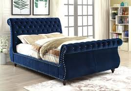 Blue Velvet King Headboard by Upholstered King Sleigh Bed And Headboards Upholstered King