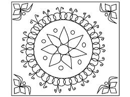 Free Rangoli Coloring Page Printable