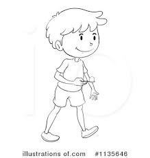 Royalty Free RF Egg And Spoon Race Clipart Illustration by Graphics RF