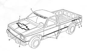100 Chevy Decals For Trucks 1989 And 1990 Chevrolet Baja Pickup Truck