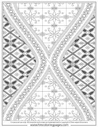 Complex Batik Art Design Coloring Page