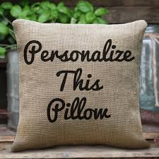 Custom Pillow Personalised Cushions Custom Quote Print on Cotton