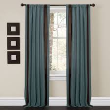 Teal And Brown Curtains Walmart by Charming Sand Blue Brown Window Curtains Set Of 2 Walmart Com