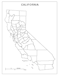 Original High Resolution Image Blank California Map