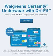 incontinence products walgreens