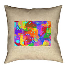 ArtVerse Katelyn Smith Wyoming Watercolor 20quot X Indoor Outdoor Pillows No UV