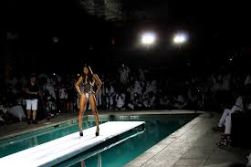W Hotel Pool Lit With Killer Maxis For Runway Fashion Show