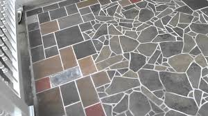 slate tile mosaic patio in albany