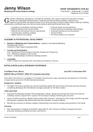 Marketing And Communications Resume New Grad Rh Workbloom Com