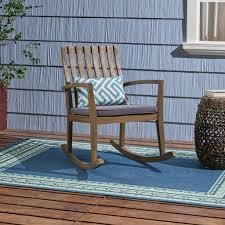 Muriel Outdoor Acacia Wood Rustic Style Rocking Chair With Cushions My Favorite Finds Rocking Chairs Down Time Exciting Rattan Wicker Chair Cushions Agreeable Fniture Rural Grey Wooden Single Rocking Chair Departments Diy At Bq Outdoor A L Hickory 7 Slat Rocker In 2019 Handsome Green Tweed Cushion Latex Foam Rustic American Sedona Lowes For Inspiring Antique Classic Check Taupe Plaid Standish Darek La Lune Collection Belham Living Raeburn Rope And Wood Walmartcom
