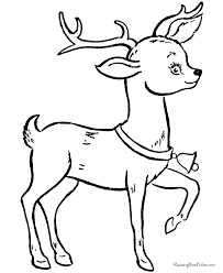 Printable Christmas Reindeer Coloring Pages