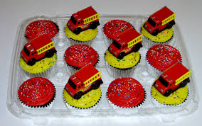100 Fire Truck Cupcake Toppers Cakes Decoration Ideas Little Birthday Cakes