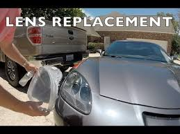 c6 corvette headlight lens replacement install review diy