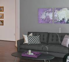 gray and purple living room enchanting design features white wall