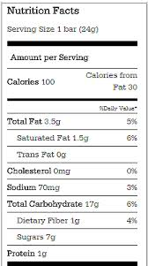 Granola Bars Nutrition Chocolate Covered Katie